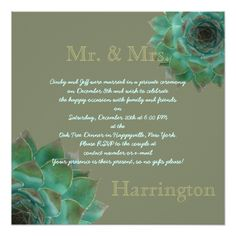Shop Succulent After the Honeymoon Reception Party Invitation created by Country_Wedding. Personalize it with photos & text or purchase as is! Succulent Wedding Invitations, Wedding Reception Invitations, Reception Party, Beautiful Wedding Invitations, Party Invitations, Marriage Announcement, Wedding Announcements, Post Wedding, Planting Succulents