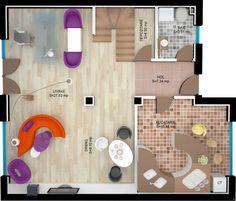 VILA RUBIN PARTER  SUPRAFAŢĂ CONSTRUITĂ: 244.29 mp SUPRAFAŢĂ UTILĂ: 201 mp SUPRAFAŢĂ GRADINĂ: 75 mp – 292 mp SUPRAFAŢĂ TERASĂ: 8 mp PRET: de la 129.500e Young People, Ground Floor, Villas, Apartments, Relax, Flooring, Dining, Building, Villa