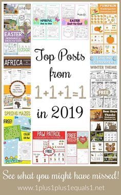 Looking Back–Top Posts from 2019 Preschool At Home, Preschool Activities, Homeschool Curriculum, Homeschooling, Kindergarten Units, Lesson Planner, Tot School, Winter Theme, Writing Skills