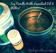 Making Soy Candles With Essential Oils is so easy. Just melt the soy wax flakes, add coloring and then a few drops of essential oils! Cheap Candles, Gel Candles, Glitter Candles, Scented Candles, Diy Candle Wick, Candle Jars, Yankee Candles, Dyi, Homemade Soy Candles