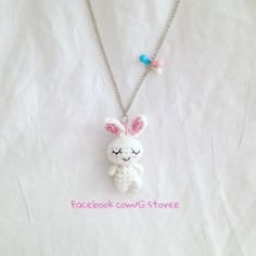 "So today I'm sharing with you guys my cute little rabbit charm pattern as a gift in celebration of ""Ramadan"" month. You are free to sell the objects you make out of this pa…"