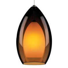 Tech Lighting Fire Grande 1 Light Mini Pendant Finish: Satin Nickel, Shade Color: Amber