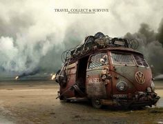 post apocalyptic Volkswagen Bus - Mad Max Style ♠ re-pinned by http://www.wfpblogs.com/category/toms-blog/