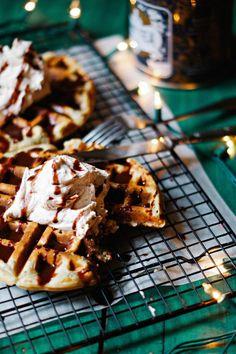 Earl Grey Waffles w/ Sweet Lucuma Coconut Cream vegan gluten free