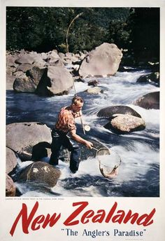 Tourism Poster, Affordable Art, New Zealand, Paradise, Auction, Kiwi, Movie Posters, Vintage, Maori