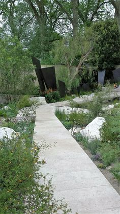 Best in show - the 'Telegraph' Garden Monumental bronze and stone. Rhs Flower Show, Chelsea, Sidewalk, Bronze, Seasons, London, Garden, Flowers, Garten