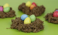 Easy Easter Chocolate Nests - great for cooking with kids.