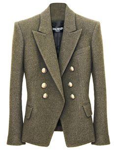 Balmain Liquorice Wool Blazer*