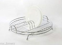 Delfinware Chrome Plated Circular Round Dish Drainer Kitchen Sink Drying Rack Ebay
