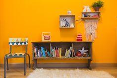 Les chambres de Marlow et Lonis - cute, baby room, chambre bébé, chambre garcon, deco chambre bebe, vintage, orange