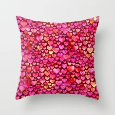 Hearts 03 Throw Pillow