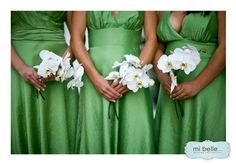 Love thus colour for bridesmaides  Color Spotlight: Green Bridesmaid Dresses « Bridesmaid Trade Blog