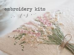 Learn hand embroidery, shop for haberdashery and antique linens. Join us on a creative retreat. Silk Ribbon Embroidery, Embroidery Kits, Cross Stitch Embroidery, Charm Bracelets For Girls, Textile Art, Needlework, Knitting, Sewing, Sapphire Bracelet