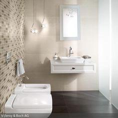 Luxury Durch die gro en Fliesen an der Wand und dem Boden entsteht eine einheitliche und geordnete Optik