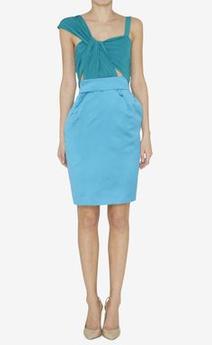 Gucci Green And Blue Dress