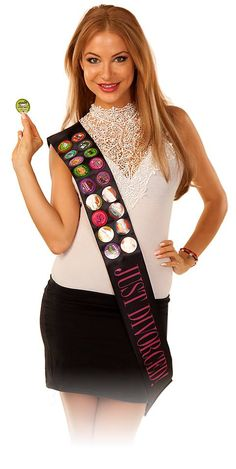 Getting a divorce??? It's time to celebrate with a hilarious wearable party game for women!!! www.burnsybadges.com Divorce Dares...check it out!! On Facebook at Burnsy Badges and you can also find it at Spencers Gifts.