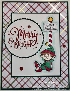 A Stampin' Up! Christmas Cards 2018, Homemade Christmas Cards, Stampin Up Christmas, Christmas Greeting Cards, Christmas Elf, Handmade Christmas, Homemade Cards, Holiday Cards, Christmas Projects