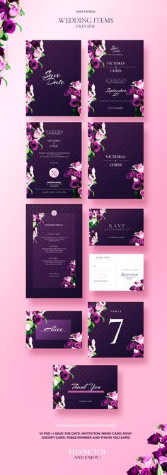 Modern Wedding Collection | 10 - Invitations - 6