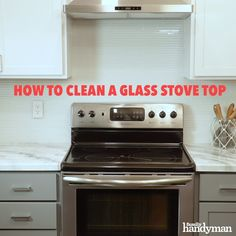 Even the smallest splatter can stick out like an eyesore on a glass stove top. We'll walk you through how to clean a glass stove top quickly and easily. Cleaning Hacks, Cleaning Lists, Clean Stove Top, Mobile Home Renovations, Kitchen Organization, Organizing, Small Apartments, Woodworking Shop, Home Remedies