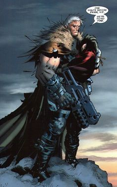 """Cable and Hope X-Men #205 by Chris Bachalo - """"Messiah CompleX"""