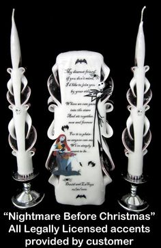 nightmare before christmas wedding ideas | ... the best in Unity Candles - My Inspired Wedding by WedAlert Network