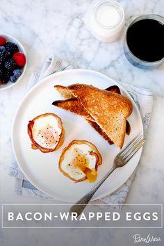 Bacon-Wrapped Eggs via @PureWow
