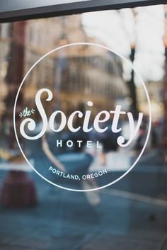 The Society Hotel in downtown Portland, Oregon brings new life to an old sailor's hotel and provides adventurous travelers with a uniquely local experience. Historical Association, Historical Society, Portland Hotels, Small Cafe Design, Exterior Signage, Affordable Hotels, Window Graphics, Original Quotes, Night Photos