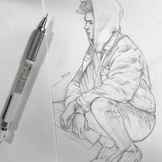 Pen and Pencil Portrait Sketches Portrait Sketches by Chibana Stift und Bleistift-Por Pencil Drawing Inspiration, Pencil Drawing Tutorials, Pencil Art Drawings, Cool Art Drawings, Art Drawings Sketches, Easy Drawings, Drawing Ideas, Sketch Art, Drawing Poses