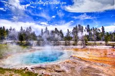Yellowstone National Park is home to nearly 500 thermal geysers. See more photos here www.ordinarytrave... >> Such an amazing part of America and what a gorgeous photo!