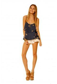 Shop Hanna Top in Navy Starfish. #RamonaLaRue #Boutique #Miami #BohemianStyle #ShopMiami #Designer  #MadeInMiami #Clothing #Womenswear  #Top #Navy #Starfish #Fashion