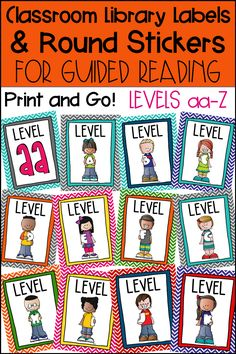 These Guided Reading Book Bin Labels are perfect for organizing your Kindergarten, First Grade, Second Grade, or Upper Elementary classroom library by Guided Reading Levels aa-Z. Use with your own Book Bins and Baskets. Matching Round Sticker labels are included for your individual books. Easy to assemble with a printable version or use the editable template to use your own font. Your classroom library will be organized and your students will know where each book belongs!