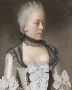 1757 Wilhelmina Hillegonda Schuyt by Jean-Etienne Liotard (Rijksmuseum - Amsterdam, Netherlands). From their Web site. 18th Century Clothing, 18th Century Fashion, 19th Century, Historical Costume, Historical Clothing, Rococo Fashion, Pastel Portraits, South Indian Jewellery, Woman Painting