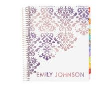 """address book -fleur feliz watercolor  Our colorful contact book will keep all your information safe in one place, with no chance of short circuiting. Log your friends and family from A to Z and keep track of never changing special dates in the Perpetual Calendar that is included.   *This Address Book measures 7.25"""" x 9.25"""" *Over 100 colorful pages, with laminated TABBED sections! *Filled with inspirational quotes throughout!"""