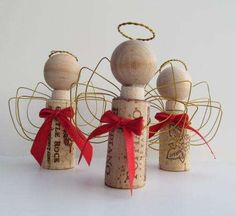 Re-Purposed Cork Decor - The Wire Christmas Angel Ornaments Put Drink Stoppers to Good Use (GALLERY)