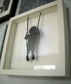 silhouette photo = kate on a swing - in Ribba IKEA frame