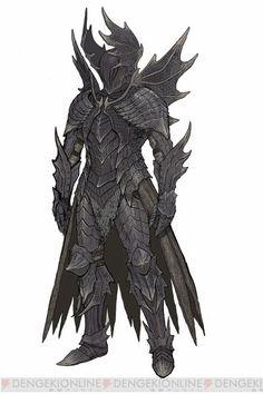 the Black Knight 『ドラゴンズドグマ オンライン』 Fantasy Character Design, Character Concept, Character Inspiration, Character Art, Fantasy Armor, Dark Fantasy Art, Medieval Fantasy, Armor Concept, Concept Art
