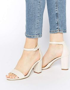 Miss KG Paige White Heeled Sandals $99 #SweetSummer