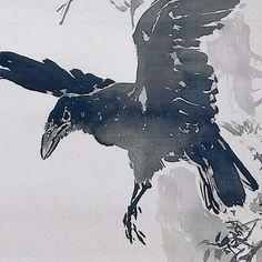 Kraaien op boomtak, Mano Gyotei, c. 1900 - c. 1925 - vogels-Collected Works of Rebecca de Rooy - All Rijksstudio's - Rijksstudio - Rijksmuseum