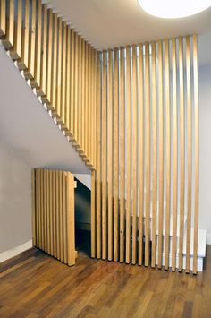 This is also true for that basement stairs. Interior Stairs, Interior Architecture, Interior Design, Basement Stairs, House Stairs, Basement Flooring, Room Partition Designs, Stair Handrail, Banisters