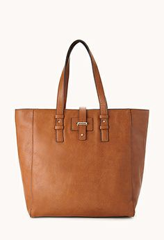 Chic Faux Leather Tote | FOREVER21 - 1000066199