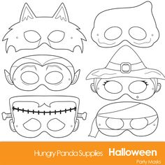 Halloween Masks printable halloween costume halloween