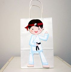Karate Party Favor, Goody, Gift Bags