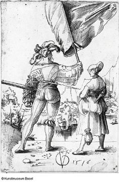 Urs Graf Fahnrich und Dirne in Ruckansicht 1516 | Flickr - Photo Sharing!