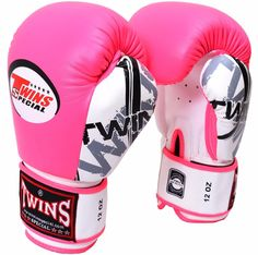 New Twins Special Fancy Pink Muay Thai Boxing Gloves BGVL-3 FBGV Signature #Twins