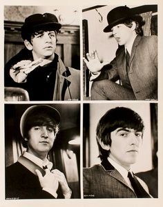The Beatles A Hard Day's Night collage