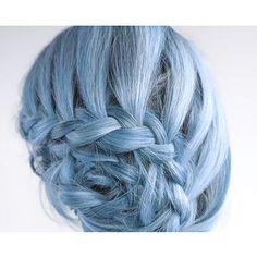 HAIR CHALK: Light Periwinkle // Temporary Hair Color // Chalk Pastel Dye