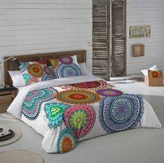 Ropa de cama con mandalas. Textil con mandalas. Decoración con mandalas. #ropadecama
