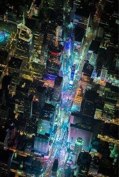 7,500피트 상공에서 찍은 뉴욕의 야경 13장 (사진)