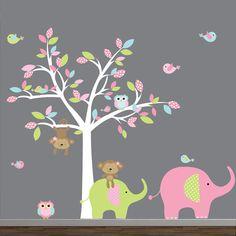 Kinder Wand Aufkleber Vinyl Wand Aufkleber Baum mit von Modernwalls