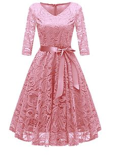online shopping for Chowsir Women Fashion V-Neck Formal Lace Evening Party Prom Midi Dress from top store. See new offer for Chowsir Women Fashion V-Neck Formal Lace Evening Party Prom Midi Dress Vestidos Vintage, Vintage Dresses, Vintage Lace, Cute Dresses, Beautiful Dresses, Formal Dresses, Casual Dresses, Long Dresses, Beautiful Shoes